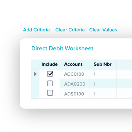 Direct Debit TechnologyOne