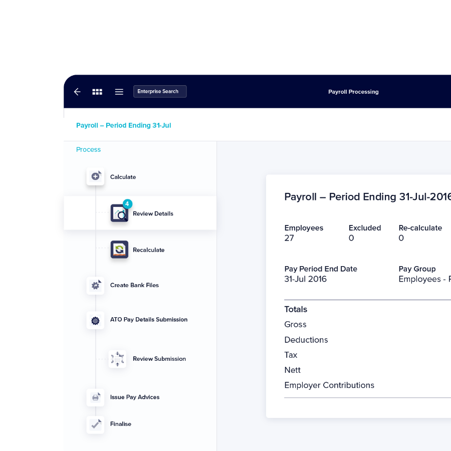 Payroll processing - TechnologyOne